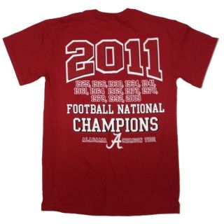 Alabama Crimson Tide 2011 BCS National Champions T Shirts got