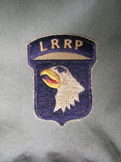 AIRBORNE PATCH   VIETNAM   LONG RANGE RECON PATROL   LRRP   RANGER