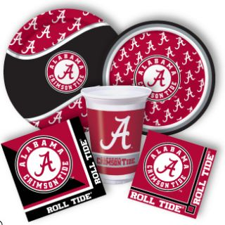 Alabama Crimson Tide College Football Tailgate Birthday Party Supplies