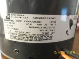 Emerson Central Air Conditioner Condensor Fan Motor. Part Number 51