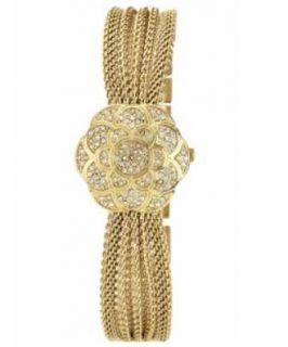 ak anne klein women s ak 1046chcv swarovski crystal gold tone bracelet