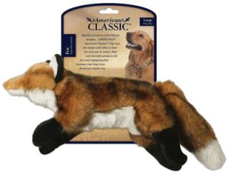 American Classic AKC Fox Dog Toy w Squeaker