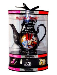 Alice in Wonderland Mad Hatter Ceramic Tea Pot Variety Gift Set