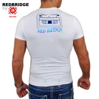 Redbridge Cipo Baxx Straß Tapez T Shirt R1361 Weiß