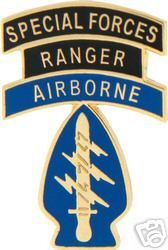 Army Hat Pin Special Forces Ranger Airborne Patch