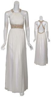 Aidan Mattox Ivory Silk Bridal Evening Gown Dress 12 New
