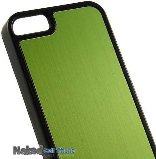 Green Black Brushed Aluminum Hard Case Cover for Apple iPhone 5th Gen