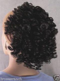 Aisha Spiral Curls Hair Piece Wig 1B Black