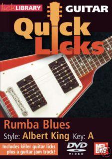 Albert King Rumba Blues Guitar Instruction DVD New
