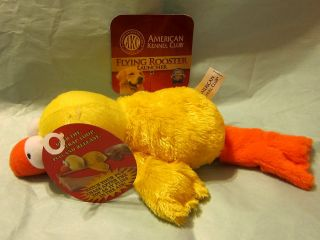 American Kennel Club Pet Dog Puppy Toy Flying Duck Launcher Squeaky