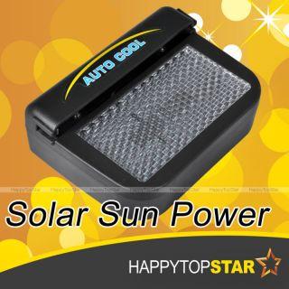 Solar Power Car Auto Cool Air Vent Cooler Cooling Fan