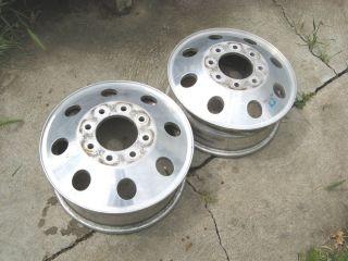 16 Alcoa Dually Wheels Rims Chevy Silverado 1 Ton Truck 3500 Aluminum