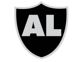 Al Davis Oakland Raiders Sticker Silver and Black 3 inch Version