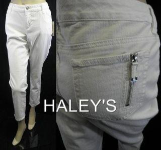 Michael Kors Stretch Skinny Leg White Capri Jeans 10P