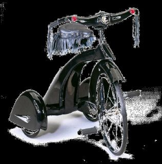 road hog trike leather chrome by airflow collectibles