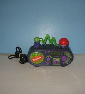 Nick Nickelodeon Time Blaster Alarm Clock Radio w Light Sounds