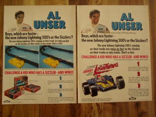 Johnny Lightning Al Unser Hot Wheels Sizzlers Ad 1970