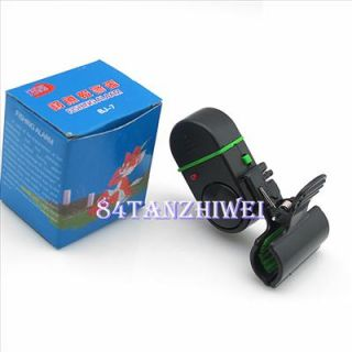 Night Fish Bite Sound Alarm LED Light Alert Bell Clip On Fishing Rod