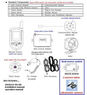 Prostar Gold 2 Way 2 Way Car Alarm Remote Starter Kit