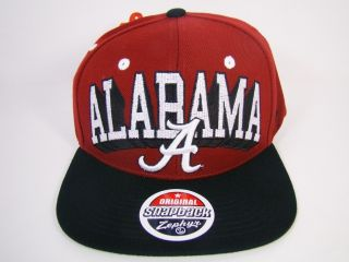 ALABAMA CRIMSON TIDE SNAPBACK HAT RED BLOCKBUSTER LOGO ZEPHYR FOOTBALL