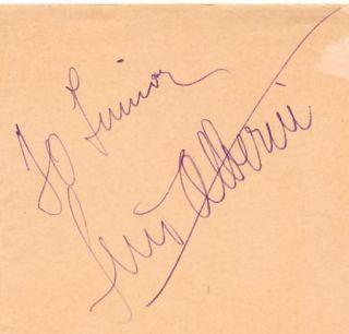 Luis Alberni Vintage 30s Signed Album Page Autographed
