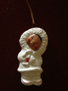 Alan Johnson Christmas Ornament Figurine Alaska Snowbabies Holding