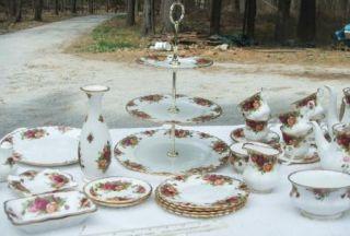 Vtg Royal Albert Old Country Roses Trivet Tea Pot Coffee Pot Gold