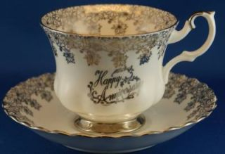 Royal Albert Happy Anniversary Cup Saucer