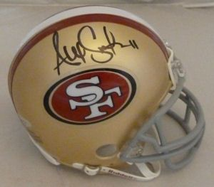 Alex Smith Autographed Signed San Francisco 49ers Riddell Mini Helmet