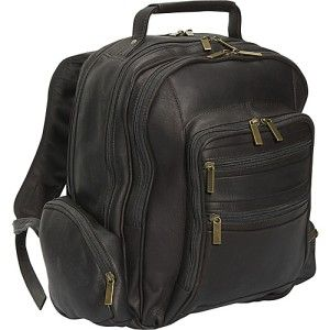 cape cod seagull premium leather laptop backpack