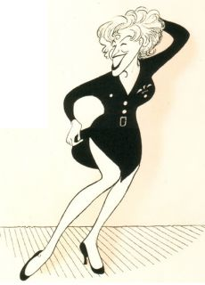 Bette Midler for The Boys Signed Al Hirschfeld