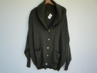 Alexander McQueen Olive Green Cashmere Sweater New