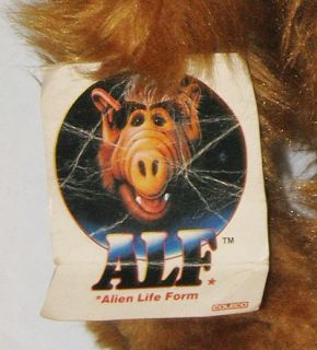 Vintage ALF 18 Plush in Original Box with Tags 1986 Coleco Stuffed