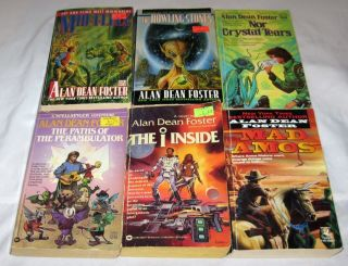 Alan Dean Foster Lot of 6 Books Sci Fi PB Paperbacks