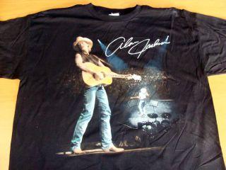 Alan Jackson Live Vintage from 1997 Concert Tee Shirt Black Size Adult