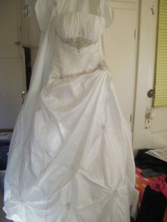 Princess Alfred Angelo 3703 White Tulle Wedding Dress Bridal Gown 12