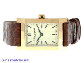 Alfred Dunhill 18K Pink Gold ladies watch, Limited Edition Mode. From