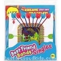 Color coded loom makes it easy. Contains 1 best friend loom, 4 colors