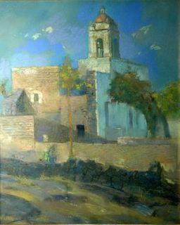 Alfredo Ramos Martinez Pastel On Paper Una Iglesia Published in Museum