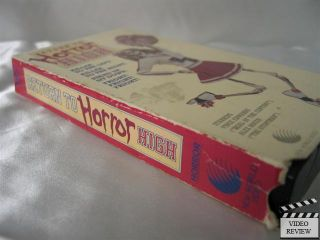 Return to Horror High VHS Vince Edwards Alex Rocco