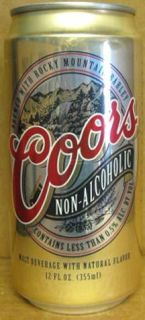 Coors Non Alcoholic Malt Beverage Beer Can Colorado