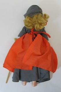 Vintage Madame Alexander Poor Cinderella Doll New York Gray Outfit