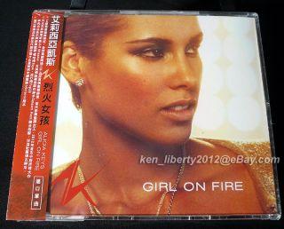 POSTAGE 3 Alicia Keys Girl on Fire Taiwan CD Single w OBI SEALED Nicki