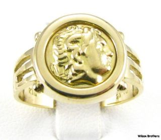 Alexander the Great CAMEO Greek Ladies RING   18k Yellow Gold