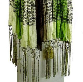 SIR ALISTAIR RAI Geldof Sanskrit Tie Dye Scarf in Green/Brown