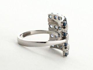 Alfieri St John 18K White Gold Diamond Sapphire Ring