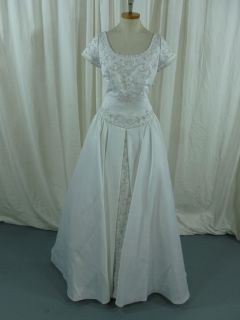 Wedding Gown White Beaded Embellishments by Alfred Angelo