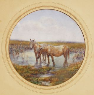 SIR ALFRED JAMES MUNNINGS dated 1910, IMPORTANT LISTED ARTIST, w/c