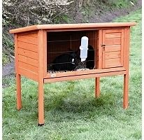 Nesting Hutch Rabbit Guinea Pig Pen Small Animal Cage Outdoor Wooden