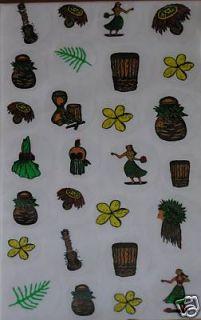 Aunties Hawaiian Stickers Set 27 All Things Hula Luau